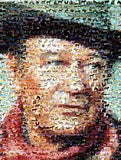 Amazing color John Wayne Horse Montage signed and #ed , Other - n/a, Final Score Products