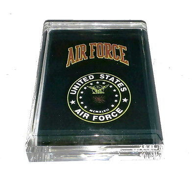 USAF Air Force Acrylic Executive Display Piece or Desk Top Paperweight