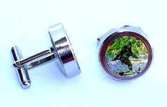 Bigfoot Yeti Sasquatch Cuff Links silver stainless steel wedding Groomsmen Gift , Other - n/a, Final Score Products