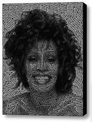 Abstract Whitney Houston Word Mosaic INCREDIBLE Framed 9X11 Limited Edition , Houston, Whitney - n/a, Final Score Products