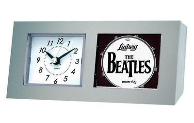 The Beatles Drum City Kit Logo Desk Table Clock