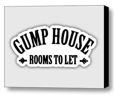 Framed Forrest Gump House Rent Sign Prop Dispaly Piece