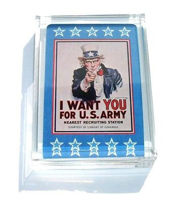 Acrylic Uncle Sam I Want You Executive Paperweight