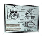 Framed Darth Vader Helmet mask plans diagram Star Wars , Posters, Prints - n/a, Final Score Products