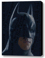Batman Dark Knight Word Mosaic INCREDIBLE Framed 9X11 Limited Edition Art w/COA , Prints - n/a, Final Score Products