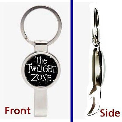 The Twilight Zone Pendant or Keychain silver tone secret bottle opener , Keyrings - n/a, Final Score Products
