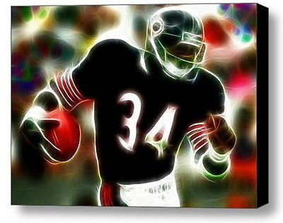 Framed Chicago Bears Walter Payton 9X11 inch Limited Edition Art Print w/COA , Football-NFL - n/a, Final Score Products