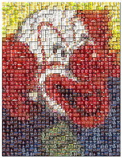 Amazing Bozo The Clown Montage mosaic LIMITED EDITION