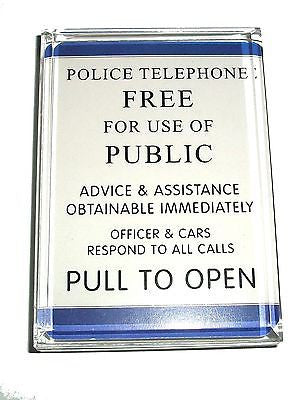 Dr. Who Tardis Police Sign Acrylic Executive Display Piece or Desk Paperweight , Other - n/a, Final Score Products
