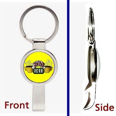 Friends TV Show Central Perk prop Pennant or Keychain secret bottle opener , Reproductions - n/a, Final Score Products