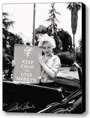 Framed Love Marilyn Monroe KEEP CALM signed 9X11 inch Art Print w/COA , Photographs - n/a, Final Score Products