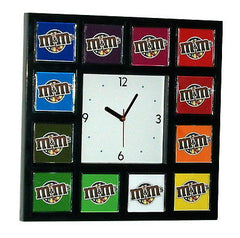 M&Ms candy color wheel promo Clock with 12 pictures MMs , M&M's - n/a, Final Score Products