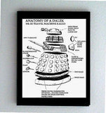Framed Doctor Dr. Who Anatomy of a Dalek robot prop , Other - n/a, Final Score Products
