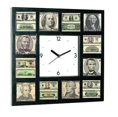 USD 100 50 20 10 5 1 Dollar Bill front and back Money Clock sales man cave , Other - n/a, Final Score Products
