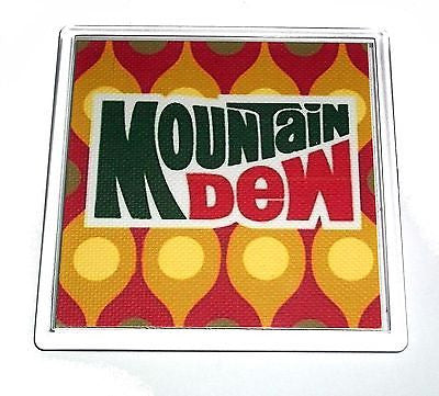 classic 1970s Mountain Mt. Dew Coaster or Change Tray , Mountain Dew - Mountain Dew, Final Score Products