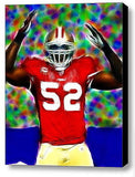 Framed Patrick Willis San Fransico 49ers 9X11 in Limited Edition Art Print w/COA , Football-NFL - n/a, Final Score Products