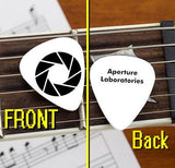 Portal 2 Video Game Aperture Laboratories Labs Set of 3 Promo Guitar Pick Pic , Video Game Memorabilia - n/a, Final Score Products