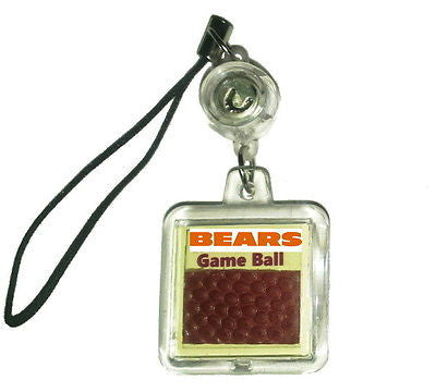 Chicago Bears Game Used NFL Football Cell Phone Charm or Key Chain