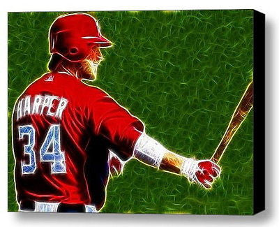 Framed Washington Nationals Bryce Harper Magical 9X11 Limited Edition Print COA , Baseball-MLB - n/a, Final Score Products