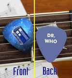 Set of 3 Dr. Who Tardis premium Promo Guitar Pick Pic , Dr. Who - n/a, Final Score Products