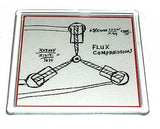Back to the Future Flux Capacitor drawing prop Coaster 4 X 4 inches , Other - n/a, Final Score Products