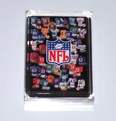Acrylic NFL retro uniforms Executive Desk Paperweight