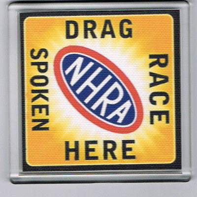 NHRA Drag Race Spoken Here hot rod racing Coaster 4 X 4 inches