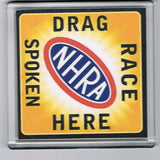 NHRA Drag Race Spoken Here hot rod racing Coaster 4 X 4 inches , Racing-NHRA - n/a, Final Score Products
