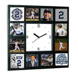 Limited Edition New York Yankees Derek Jeter Clock with 12 career pictures , Baseball-MLB - Final Score Products, Final Score Products