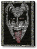 KISS Gene Simmons Word Mosaic WOW Framed 9X11 inch Limited Edition Art w/COA , Novelties - n/a, Final Score Products