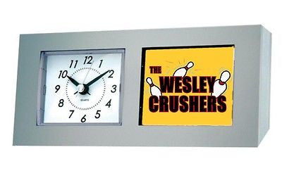 The Big Bang Theory Wesley Crushers Bowling Team Desk Table Clock