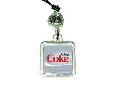 Diet Coke Soda Pop Cell Phone Blinking Flashing Charm