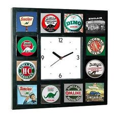 History of Sinclair Gas and Oil vintage old signs Clock , Sinclair - n/a, Final Score Products