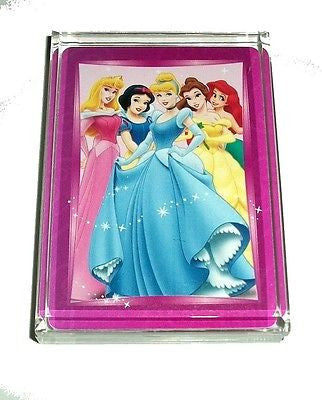 Disney Princess Group Shot Acrylic Executive Desk Top Paperweight Pink