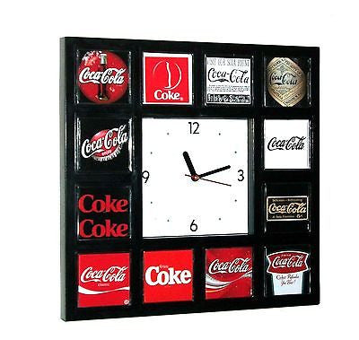 History of Coke Coca-Cola drink soda pop sign logo classic wall or desk clock , Clocks & Radios - n/a, Final Score Products