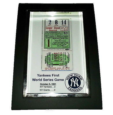 New York Yankees First World Series Game Ticket Framed Art Print Memorabilia , Prints - n/a, Final Score Products