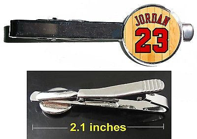 Michael Jordan Chicago Bulls Jersey Tie Clip Clasp Bar Slide Silver Metal Shiny , Basketball-NBA - n/a, Final Score Products