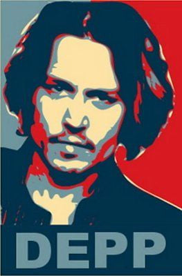 Johnny Depp 19X13 Obama style poster Limited Edition , Current Releases - n/a, Final Score Products