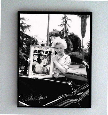 Framed odd weird goth Marilyn Monroe Dead 9X11 inch Limited Edition Art Print , Photographs - n/a, Final Score Products