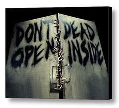AMC The Walking Dead DON'T OPEN DEAD INSIDE Framed door sign picure , Reproductions - n/a, Final Score Products