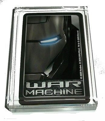 Acrylic War Machine Iron Man Executive Desk Top Paperweight
