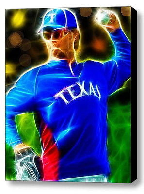 Framed Magical Texas Rangers Yu Darvish 9X11 Art Print Limited Edition signed c