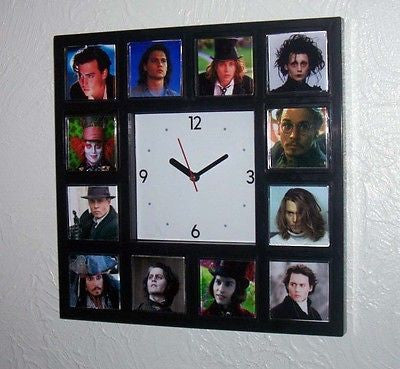 Johnny Depp characters Clock with 12 classic roles. 21 jump Street, Mad Hatter + , Watches & Clocks - n/a, Final Score Products