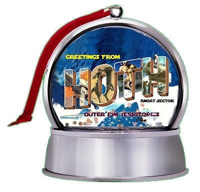 Star Wars Greeting From Hoth Souvenir SnowGlobe Magnet Holiday Tree Ornament