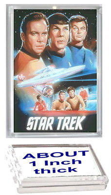 Star Trek TOS cast Kirk Spock Acrylic Executive Display Piece r Desk Paperweight