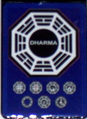 Official Lost TV Show Blue Dharma Stations Fridge Magnet big 2.5 X 3.5 inches