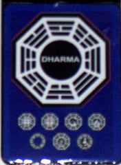 Official Lost TV Show Blue Dharma Stations Fridge Magnet big 2.5 X 3.5 inches , Fridge Magnets - n/a, Final Score Products