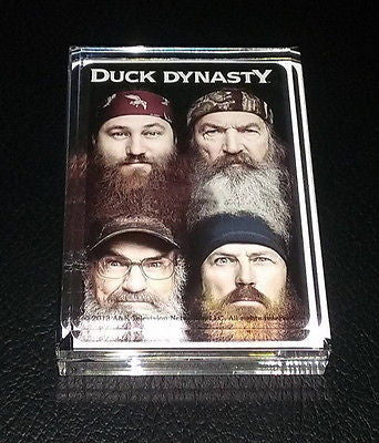 Duck Dynasty TV Show Acrylic Executive Display Piece or Desk Top Paperweight , Other - n/a, Final Score Products