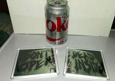AMC The Walking Dead Don't Open Dead Inside 4 X 4 inch coaster set , Other - n/a, Final Score Products