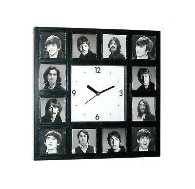 The Beatles History of faces through the years clock with 12 pictures , Other - n/a, Final Score Products